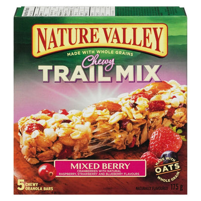 NATURE VALLEY BARRES TENDRES MÉLANGE DU RANDONNEUR ET FRUITS DÉS CHAMPS 175 G