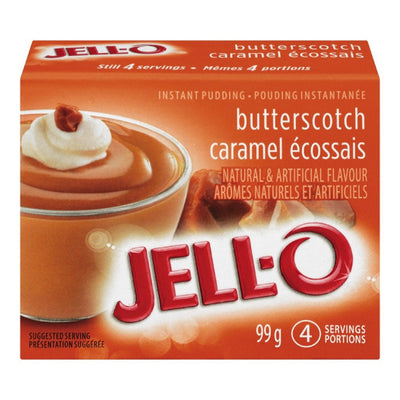 JELL-O POUDING INSTANT CARAMEL BEURRE 99 G
