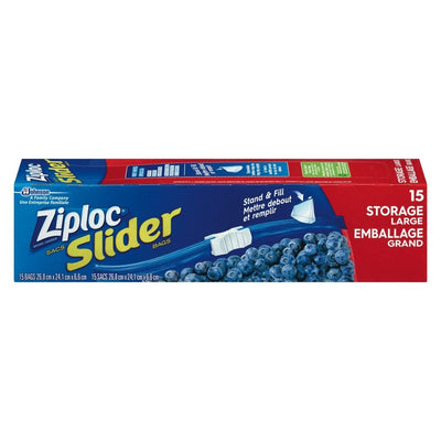 ZIPLOC SLIDELOCK SAC PLASTIQUE GRAND 15 UN