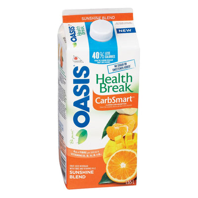 OASIS JUS D'ORANGE CARBSMART FRUITS ENSOLEILLÉS 1.65 L