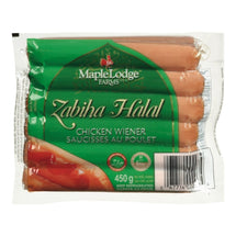 MAPLE LODGE FARMS SAUCISSES POULET ZABIHA HALAL 450 G