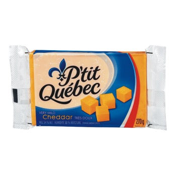 P'TIT QUEBEC FROMAGE CHEDDAR COLORE TRES DOUX, 270 G