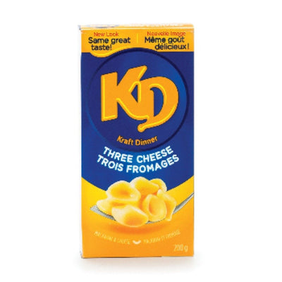 KRAFT DINNER MACARONI AU FROMAGE JUSQU'À  3 FROMAGES 200 G