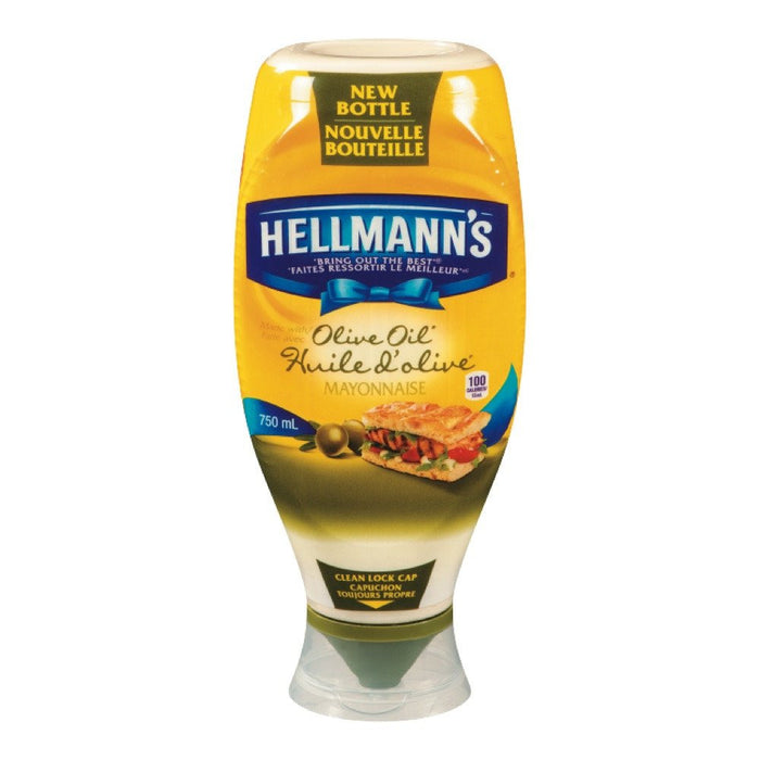 HELLMANN'S MAYO HUILE OLIVE COMPRIMABLE 750 ML