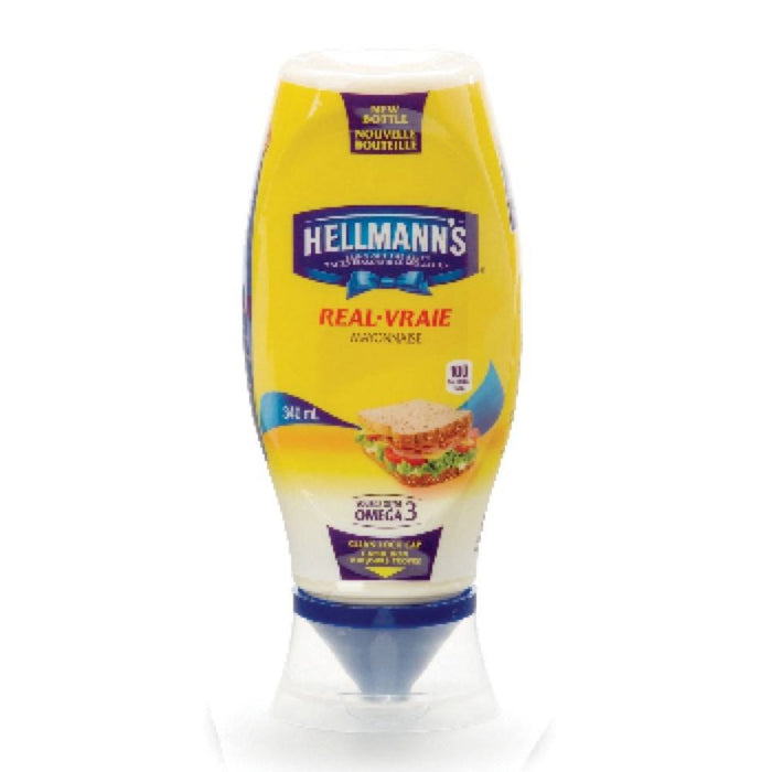 HELLMANN'S VRAIE MAYONNAISE COMPRIMABLE 340 ML