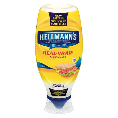 HELLMANN'S MAYONNAISE VRAIE SQUEEZE 750 ML