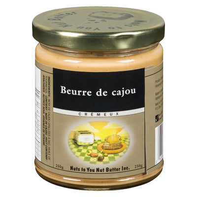 NUTS TO YOU NUT BUTTER BEURRE DE CAJOUX CREMEUX 250 G