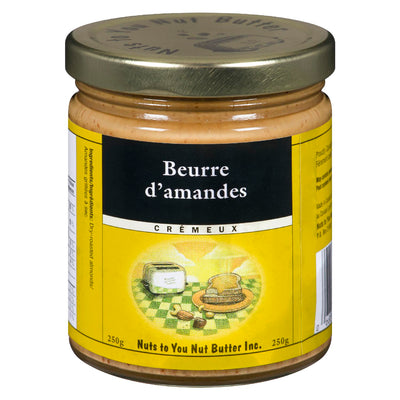 NUTS TO YOU NUT BUTTER BEURRE AMANDES CREMEUX 250 G