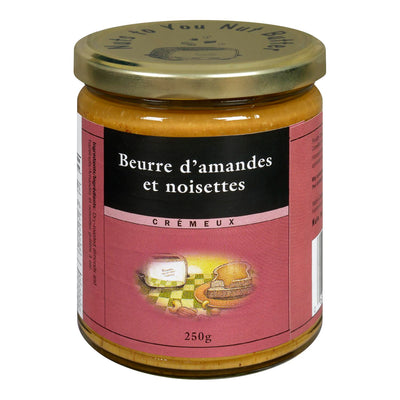 NUTS TO YOU NUT BUTTER INC BEURRE AMANDES NOISETTES 250 G