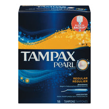 TAMPAX PEARL TAMPONS PLASTIC REGULIER NON PARFUMES 18 U