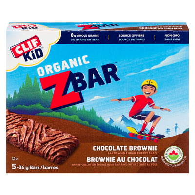 CLIF KID ORGANIC ZBAR BARRES BROWNIE CHOCOLAT BIOLOGIQUE 5 x 36 G