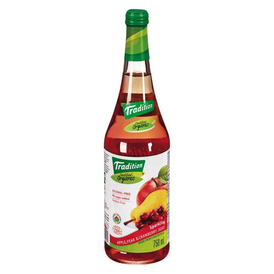 TRADITION JUS POIRE CANNEBERGE PETILLANT 750 ML