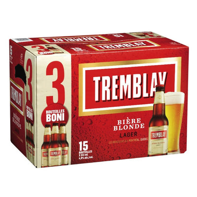 TREMBLAY BIERE 4.9% ALC BLONDE LAGER 15 x 341 ML