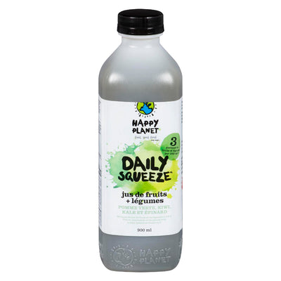 HAPPY PLANET DAILY SQUEEZE JUS POMME VERTE KIWI KALE EPINARD 900 ML