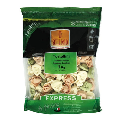 O SOLE MIO TORTELLINI FROMAGE 3 COULEURS 1 KG