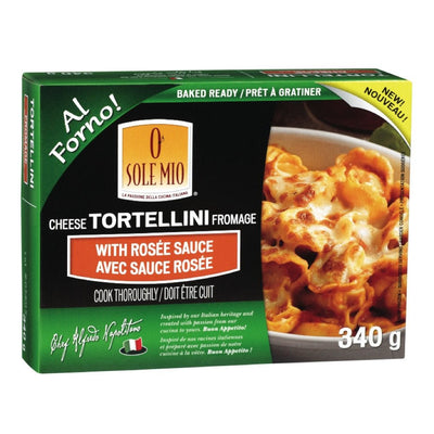 O SOLE MIO TORTELLINI FROMAGE SAUCE ROSE 340 G