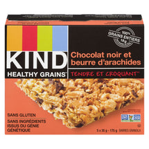 KIND, BARRE HEALTHY GRAINS CHOCOLAT NOIR ET BEURRE D'ARACHIDES, 175G