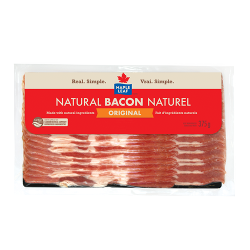 MAPLE LEAF, BACON NATUREL, 375 G