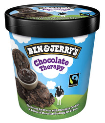 BEN & JERRY'S, CRÈME GLACÉE CHOCOLATE THERAPY, 500 ML