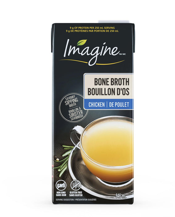 IMAGINE, BOUILLON D'OS DE POULET, 946ML