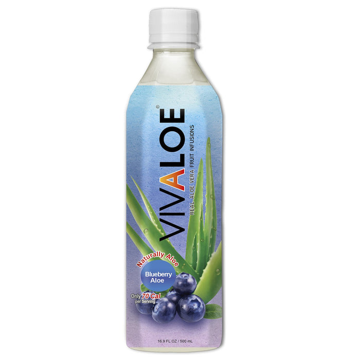VIVALOE, BOISSION ALOE BLEUET, 500 ML