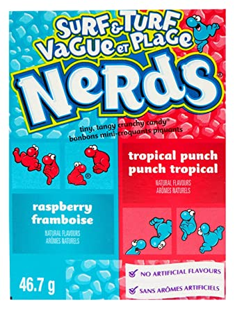 NERDS, FRAMBOISE & PUNCH TROPICAL, 46.7 G