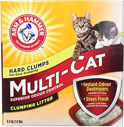 ARM & HAMMER, LITIÈRE CHAT MULTI AGGLOMERANTE, 6.4 KG