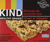 KIND, BARRE HEALTHY GRAINS BRISURES DE CHOCOLAT NOIR, 175G