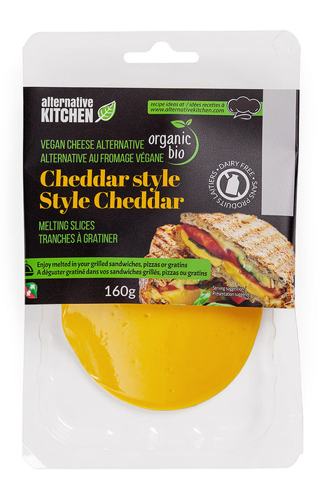 ALTERNATIVE KITCHEN, CHEDDAR VÉGANE BIO, 160 G