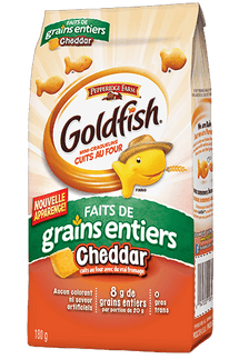 PEPPERIDGE FARM, CRAQUELINS GOLDFISH GRAINS ENTIERS, 180 G