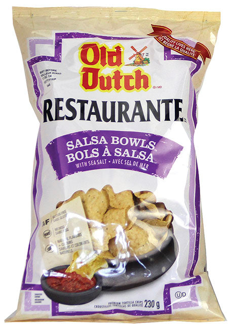 OLD DUTCH, RESTAURANTE TORTILLAS BOLS À SALSA, 230 G