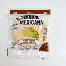 CASA MEXICANA TORTILLAS MAÏS FEVES NOIRES 6`` 400G