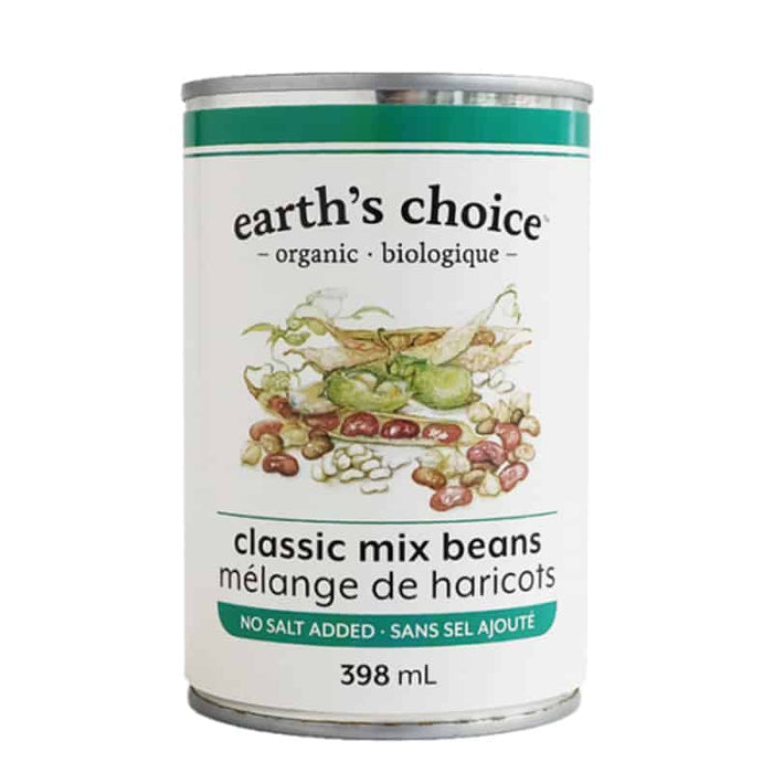 EARTH'S CHOICE, MÉLANGE DE HARICOTS BIO, 398 ML