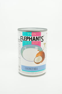 TWIN ELEPHANTS LAIT DE NOIX DE COCO 400 ML