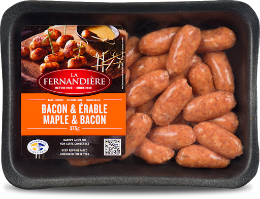 LA FERNANDIERE, SAUCISSE COCKTAIL À L'ÉRABLE ET BACON, 375G