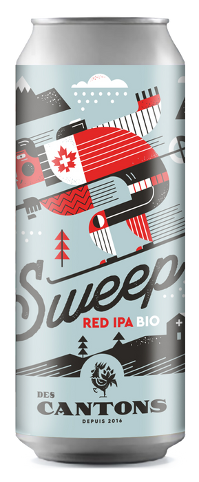 DES CANTONS, SWEEP RED IPA BIO 6%, 473 ML