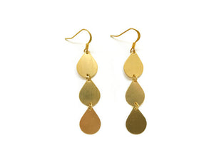 Falling Teardrop Earrings