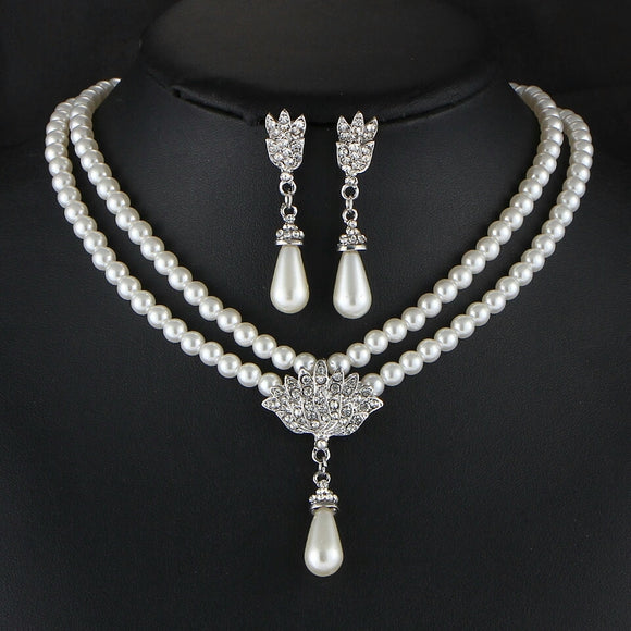 Sophisticated Water Drop Jewelry Set