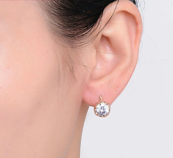 Exquisite Crown Austrian Crystal Earrings