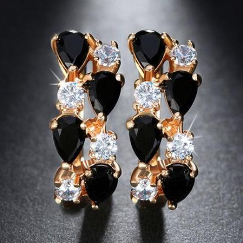 Dazzling Cubic Zirconia Stud Earrings - Fashiozz
