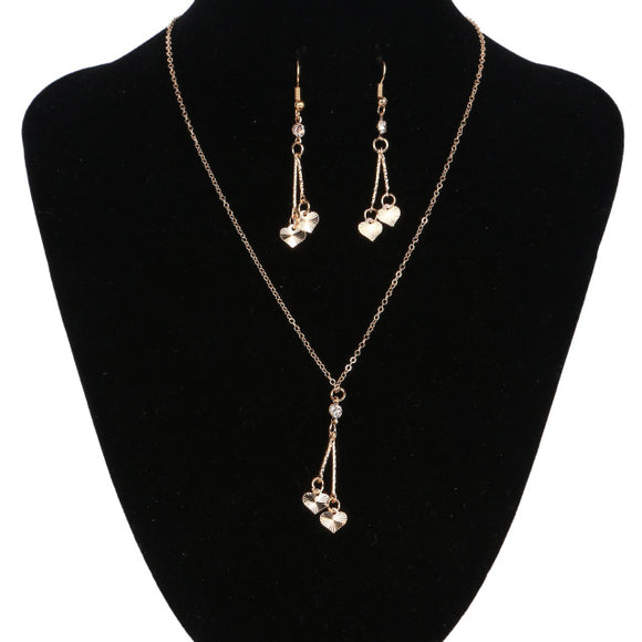 Cute Heart Vintage Crystal Jewelry Set - Fashiozz