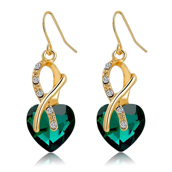 Luxury Cubic Zirconia Heart Earrings - Fashiozz