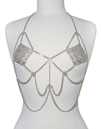 Dripping Body Chain Top - Silver