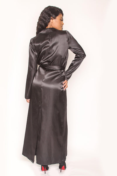 Satin Duster - Black