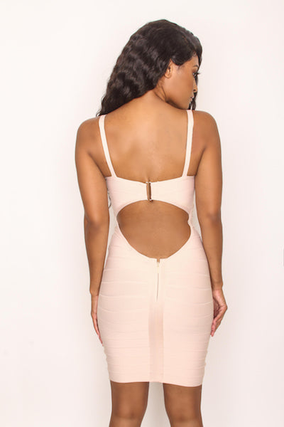 Strap Me Up Dress - Nude