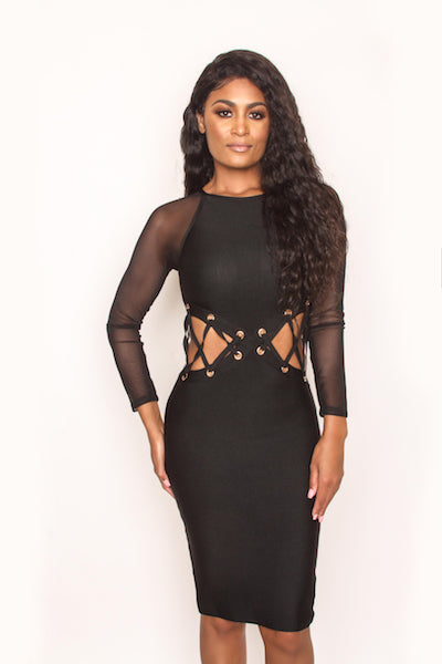 Lady Lace Dress - Black