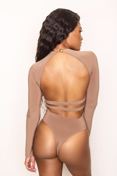 Mask Off Bodysuit - Mocha