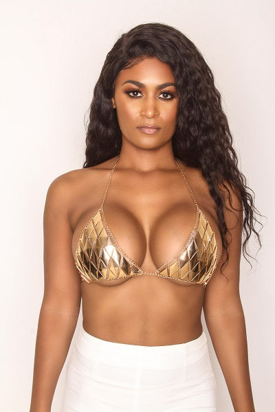 Gold Member Bra Top