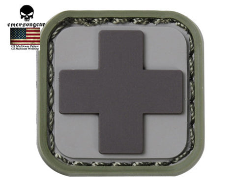 Emerson Medic Square PVC Patch Mini Patch Outdoor Airsoft Tactical Military Hunting Morale Patch Rubber Morale Gear Patches
