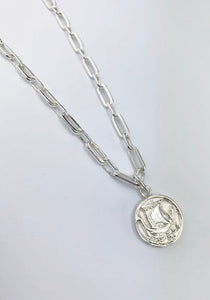 Ship medallion chunky Chain Necklace